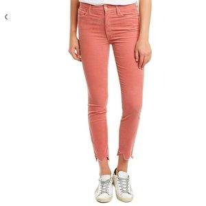 Mother Looker Corduroy High-Rise Ankle Skinny